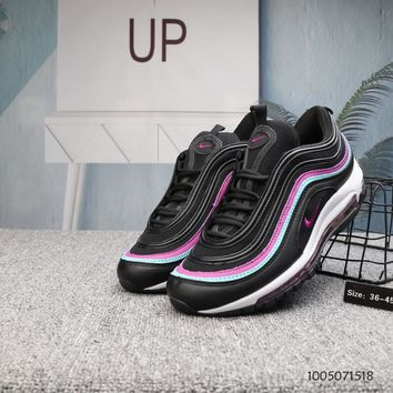 KUYOU N692 Nike Air Max 97 Plus Cushion Running Shoes Black Pink Blue