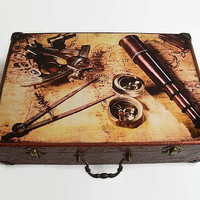 Box, wooden suitcase, Wooden case, Ancient map, World Map, Old map, storage cards groomsman Gift for man, antique card decor World Map Decor