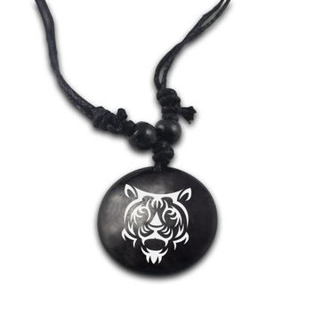 Handmade Personality Leather Tiger Necklace - Free + Shipping