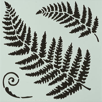 "Hot Off The Press Stencils 6""""X6""""-Ferns"