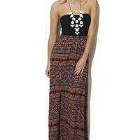 Sweetheart Aztec 2fer Maxi Dress | Shop Just Arrived at Wet Seal
