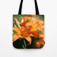 Day Lily Dance Tote Bag by Theresa Campbell D'August Art