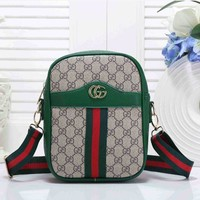 Gucci Fashion Women Leather Shoulder Bag Crossbody Satchel