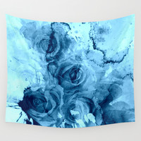roses underwater Wall Tapestry by Clemm