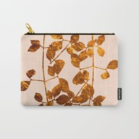fall golden leaves Carry-All Pouch by Clemm