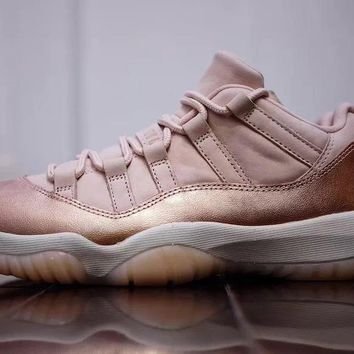 "[Free Shipping]Air Jordan 11 Low ""Rose Gold""  AH7860-105 Basketball Sneaker"
