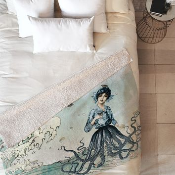 Belle13 Sea Fairy Fleece Throw Blanket