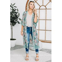 Power 2 The Flower Floral Duster Kimono