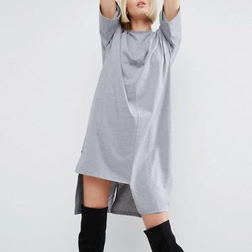 ASOS T-Shirt Dress with Split Hem Detail at asos.com