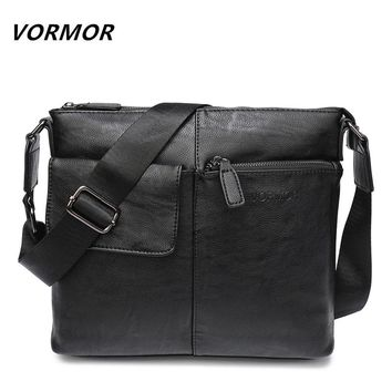 VORMOR Brand Messenger Bag Men Shoulder Bag Man Satchels Handbags PU Leather Sling Bags designer Men Crossbody Bags