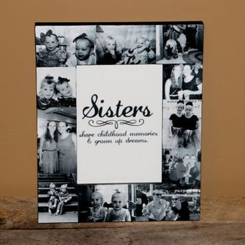 Personalized Father's Day Sisters Gift Bridesmaid Picture Frame Custom Collage Maid of Honor Frame Best Friends Gift Parent Gift 4x6 5x7 8x1
