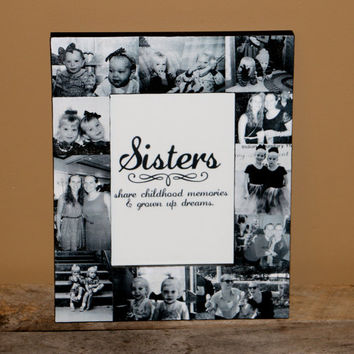 personalized fathers day sisters gift bridesmaid picture frame custom collage maid of honor frame best friends