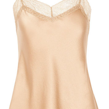 Vince - Lace-trimmed silk-satin camisole