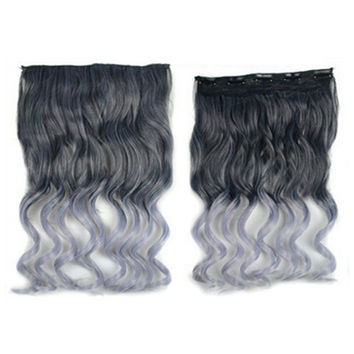 Hair Extension Long Curled Hair Gradient Ramp Wig 32