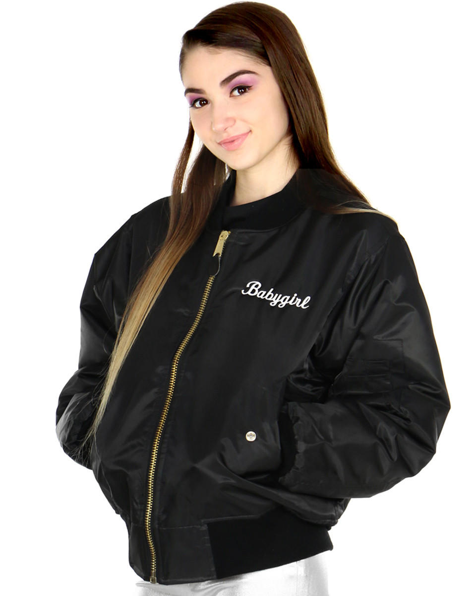 9b5d466bc BABYGIRL BOMBER from Shop Jeen