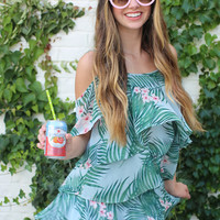 show me your mumu: romance ruffle top - hanalei dream
