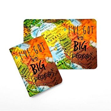 I've Got A Big Plan World Map Leather Passport Holder - Passport Protector - Passport Cover - Passport Wallet_SUPERTRAMPshop