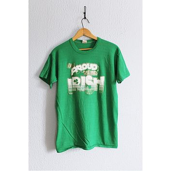 Vintage Graphic Metallic  Proud To Be Irish Tee