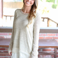 Make My Day Layer Sweater - Oatmeal