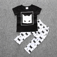 SY122  The new 2016 summer baby girl clothes 3 pcs / pack Flower Band T-shirt pants baby clothing sets baby girl 3 piece suite