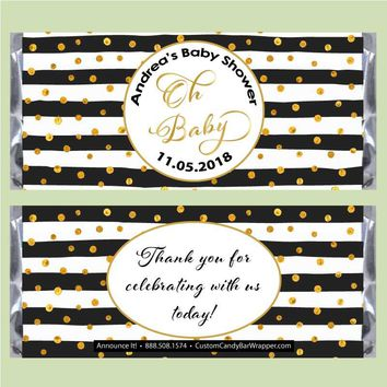 Baby Shower Classy Candy Bar Wrappers