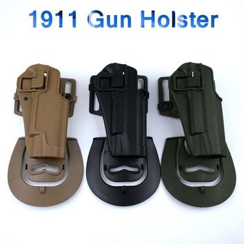 Tactical Military Accessories Hunting Pistol Belt Holster For Colt 1911 Gun Holster Right Hand Airsoft Handgun Waist Holster
