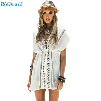 Sarong Beach White Swimsuit Coverup