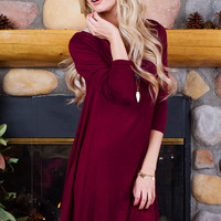 About A Girl Dress - Burgundy
