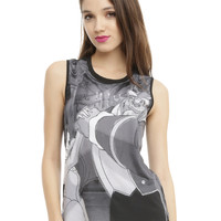Disney Beauty And The Beast Sublimation Girls Muscle Top