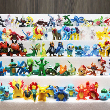Pokémon Monster Pocket Monster toys doll full set 2-5cm/3-6cm 1-6 Generation