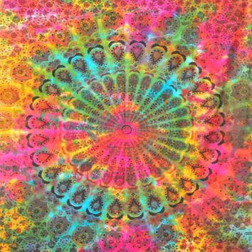 Tie Dye Splash Tapestry Hippie Wall Hanging Throw Bedspread Dorm Tapestry