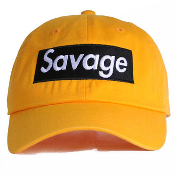 The Savage Dad Hat in Yellow & Black