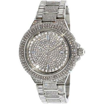 Michael Kors Women's Camille MK5869 Silver Stainless-Steel Japanese Quartz Fashion Watch