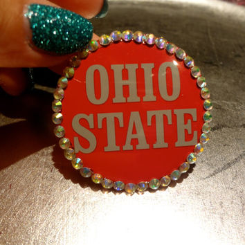 Blinggg Ohio State Buckeye Pin by BLINGGG on Etsy