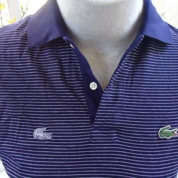 vintage DEADSTOCK Izod LACOSTE Multiple Alligator Polo Shirt