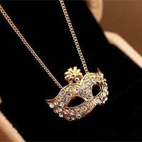 Mask Pendant Necklace