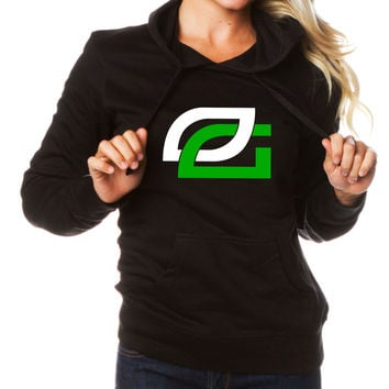 Girls OpTic Icon Hoodie - AGrnWht on Blk