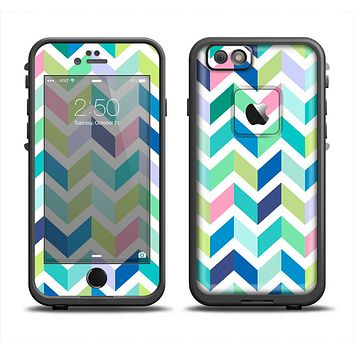 The Fun Colored Vector Segmented Chevron Pattern Apple iPhone 6 LifeProof Fre Case Skin Set