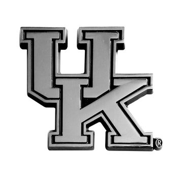 Kentucky Wildcats NCAA Chrome Car Emblem (2.3in x 3.7in)
