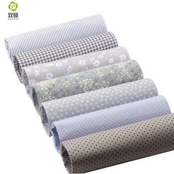 Gray series Twill Cotton Fabric Patchwork Tissue Cloth Of Handmade DIY Quilting Sewing Textile Material Half Meter