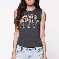 Riot Society Ornate Side Elephant Muscle Tank at PacSun.com