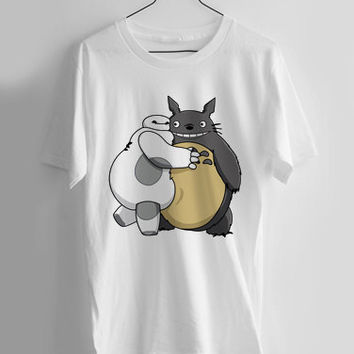 Baymax and Totoro Hug T-shirt Men, Women Youth and Toddler