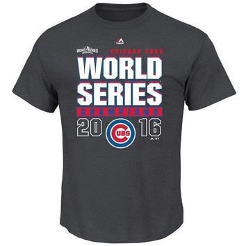 """CHICAGO CUBS Majestic """"Roaring Glory"""" 2016 WORLD SERIES CHAMPIONS T-Shirt"""