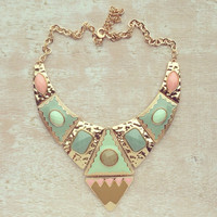 PASTEL TRIBAL DESIGNS NECKLACE