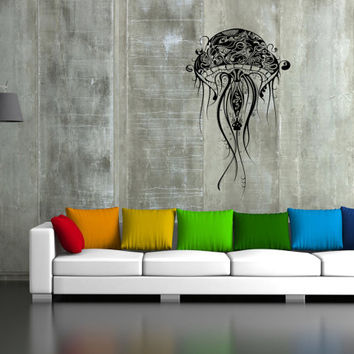 ik38 Wall Decal Sticker Room Decor Wall Art Mural sea jellyfish living room bedroom bathtub  interior