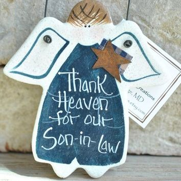 Fathers Day Son In Law Birthday Gift Salt Dough Ornament Gif