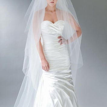 2-Tier Flutter Cut Wedding Veil