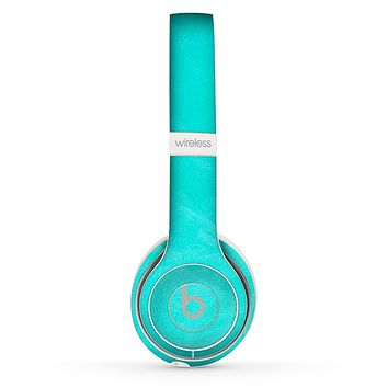 The Subtle Neon Turquoise Surface Skin Set for the Beats by Dre Solo 2 Wireless Headphones