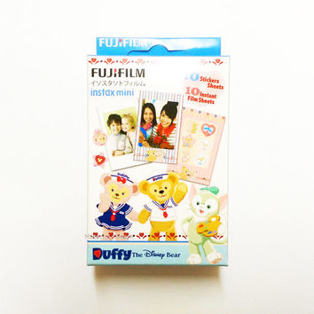 Hong Kong Disneyland Exclusive Set Films and Stickers Fujifilm Instax Mini Film Duffy The Disney Bear Polaroid Instant Photo