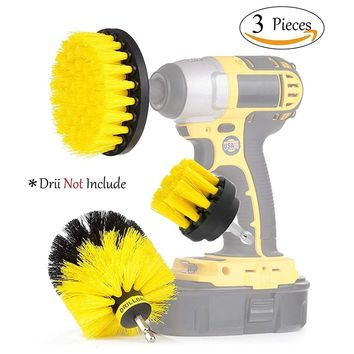 3Pcs/lot Power Scrubber Brush Drill Brush Cleaner For Bathroom Surfaces Tub Sink Shower Tile Grout Household Cleaning Tool Set